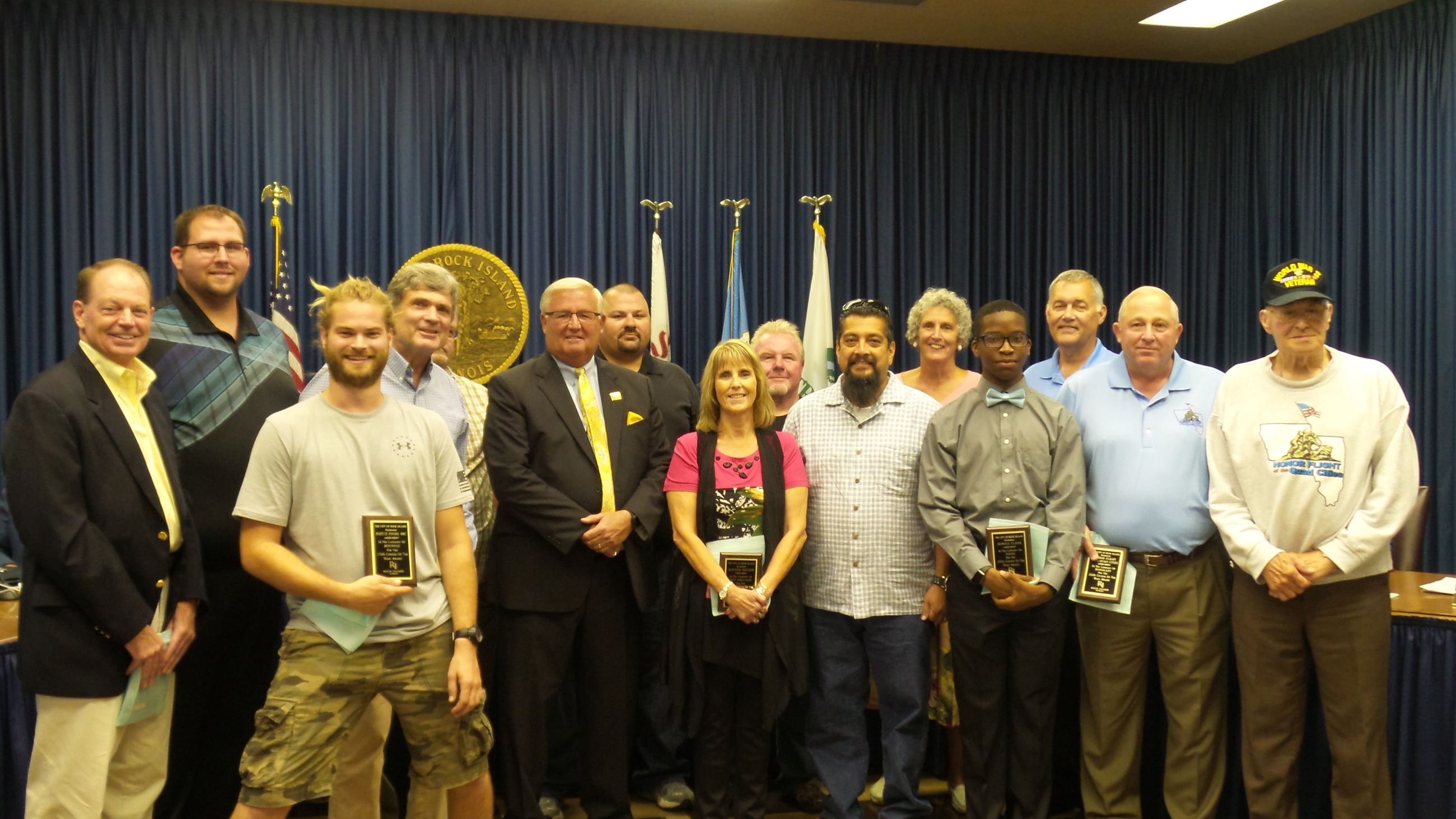2016  Rock Island Citizens of the Year Award Winners with Mayor Pauley