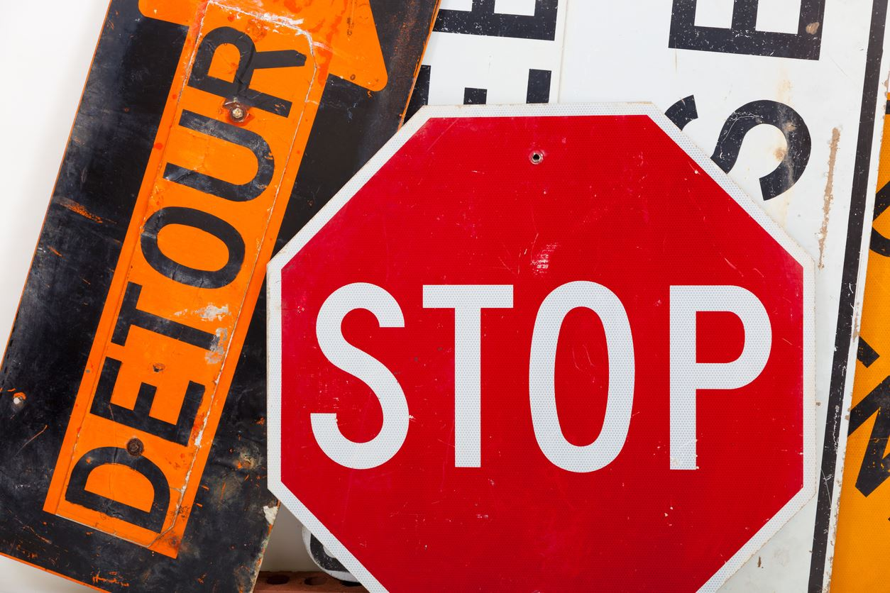 iStock Detour Stop Signs