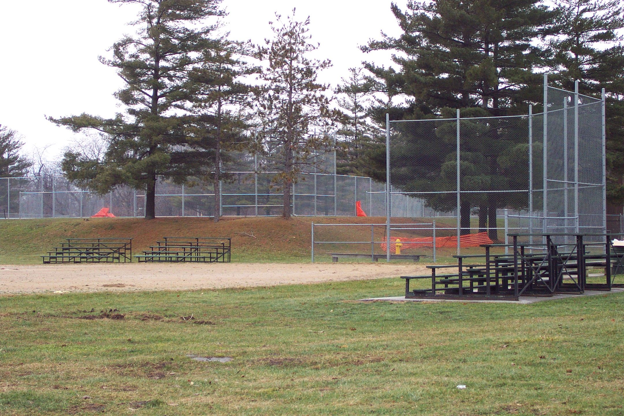 Baseball diamond and bleachers