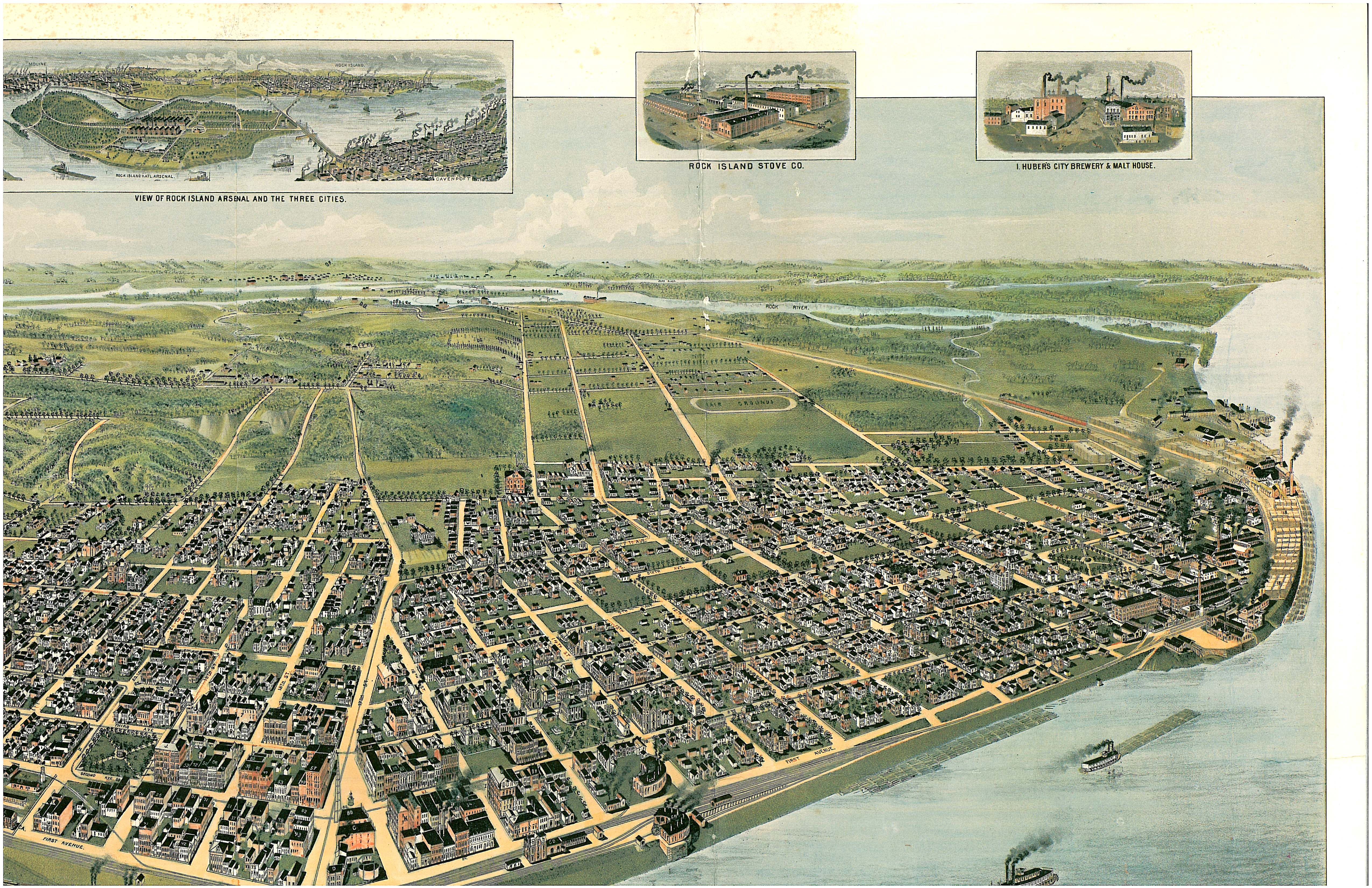 Birds Eye View circa 1887
