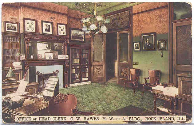 C. W. Hawes office interior Modern Wooden of American building