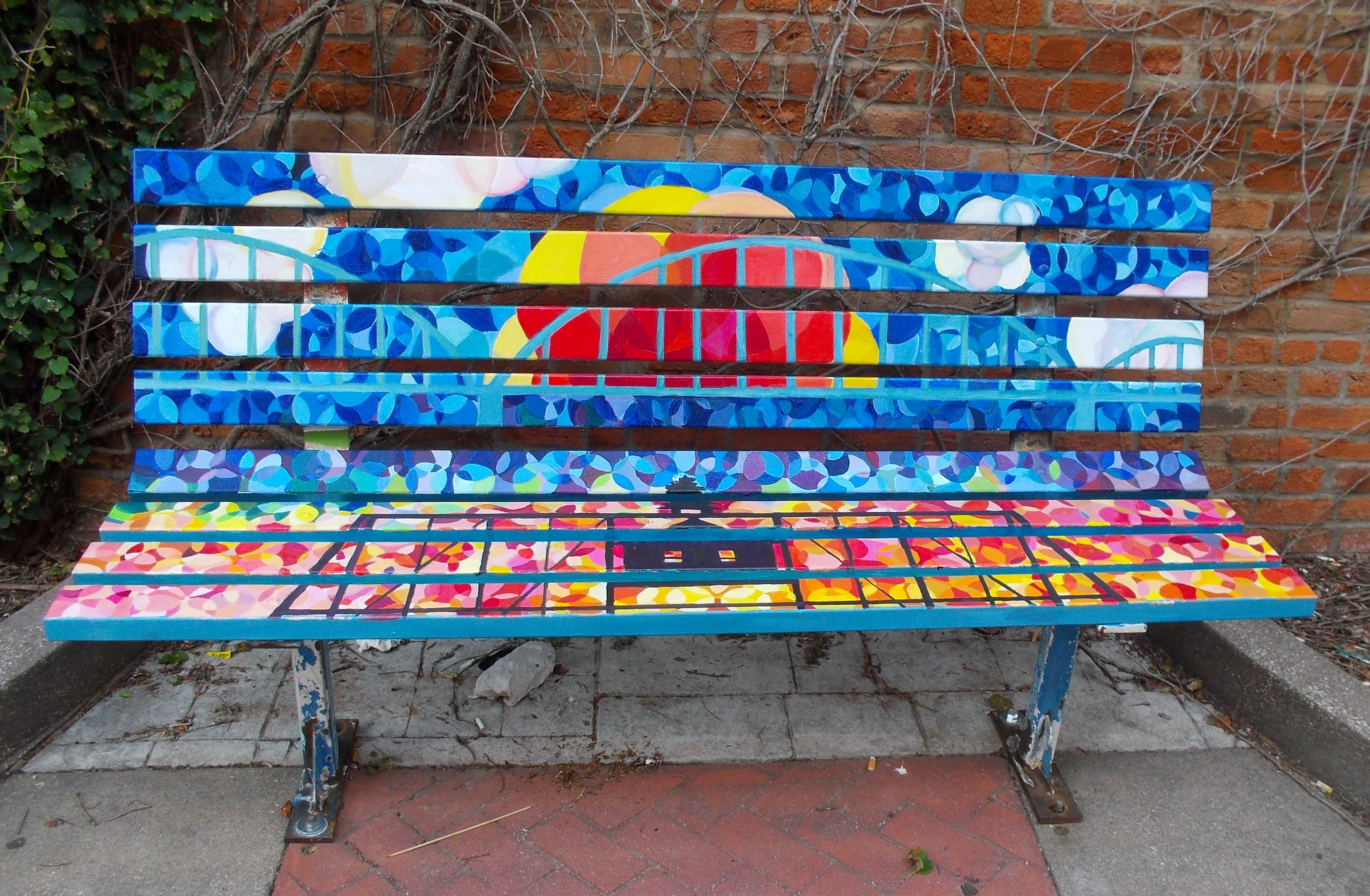 Bench Stained Glass Bridges_MetroAr