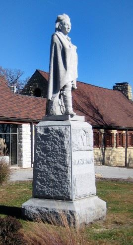 Black Hawk statue at Black Hawk State Park by David Richards in 1890's