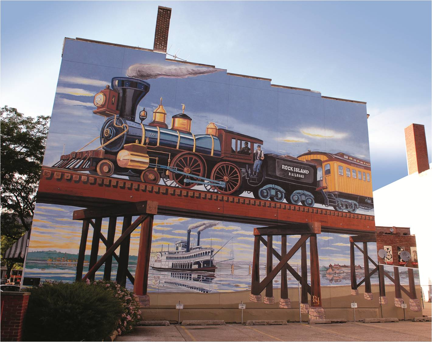 Painting of historic train